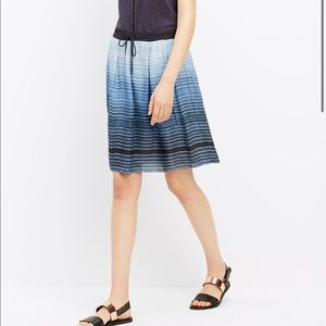 Vince Silk Blue Ombré Circle Skirt